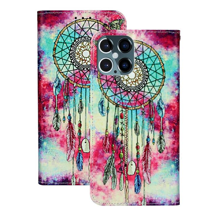 Butterfly Chimes PU Leather Wallet Case for iPhone 12 Pro Max (6.7 inch)