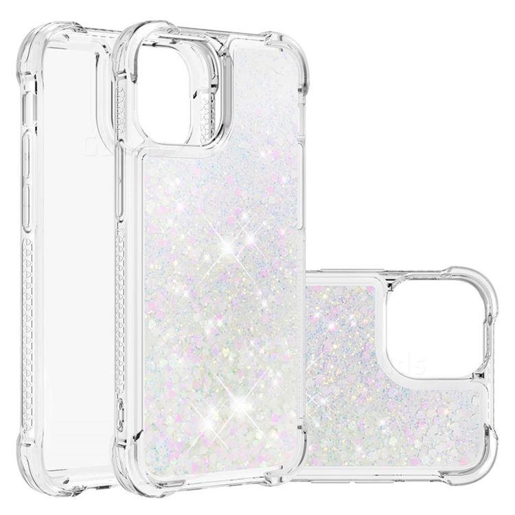 Dynamic Liquid Glitter Sand Quicksand Star TPU Case for iPhone 13 (6.1 inch) - Pink