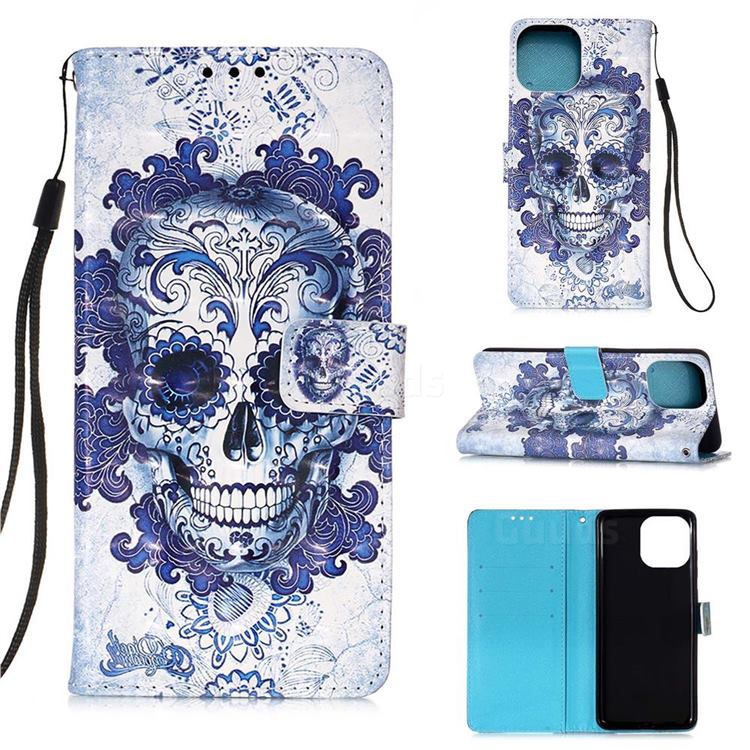Cloud Kito 3D Painted Leather Wallet Case for iPhone 13 (6.1 inch)