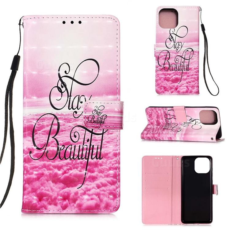 Beautiful 3D Painted Leather Wallet Case for iPhone 13 mini (5.4 inch)