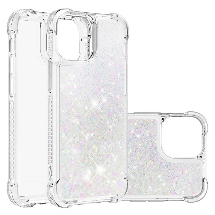 Dynamic Liquid Glitter Sand Quicksand Star TPU Case for iPhone 13 Pro Max (6.7 inch) - Pink