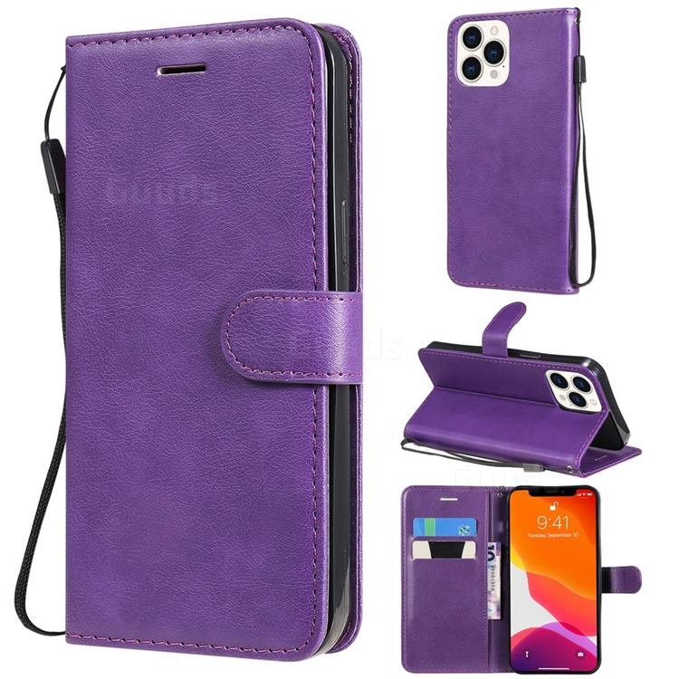 Retro Greek Classic Smooth PU Leather Wallet Phone Case for iPhone 13 Pro Max (6.7 inch) - Purple