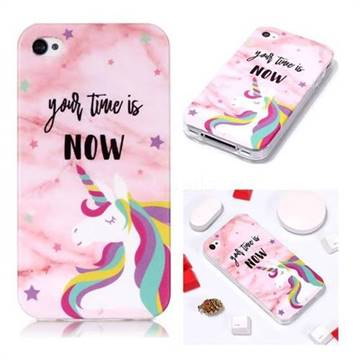 hot sale online 6d431 4c160 Unicorn Soft TPU Marble Pattern Phone Case for iPhone 4s 4