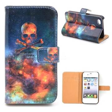 outlet store 37cb1 ff1c3 Fire Skull Leather Wallet Case for iPhone 4s / iPhone 4