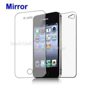 Front and Back Screen Protector Guard for iPhone 4 4S - Mirror