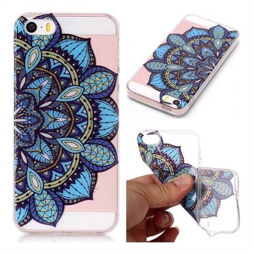 Peacock flower Super Clear Soft TPU Back Cover for iPhone SE 5s 5