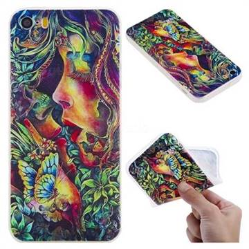 Butterfly Kiss 3D Relief Matte Soft TPU Back Cover for iPhone SE 5s 5