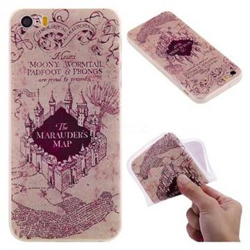 Castle The Marauders Map 3D Relief Matte Soft TPU Back Cover for iPhone SE 5s 5