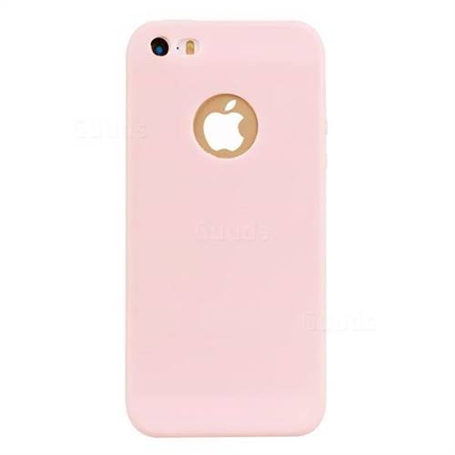 wholesale dealer 28f26 9b963 Candy Soft TPU Back Cover for iPhone SE 5s 5 - Pink