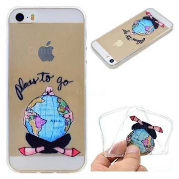 Global Travel Super Clear Soft TPU Back Cover for iPhone SE 5s 5