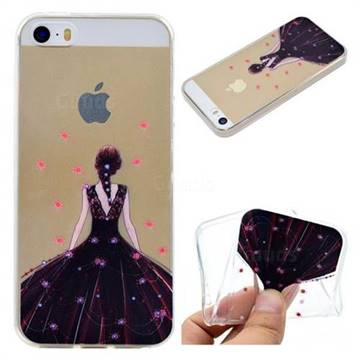 Wedding Girl Super Clear Soft TPU Back Cover for iPhone SE 5s 5