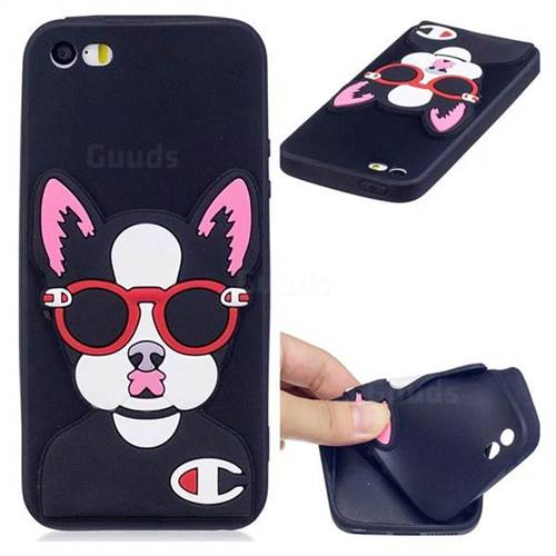 Glasses Gog Soft 3D Silicone Case for iPhone SE 5s 5