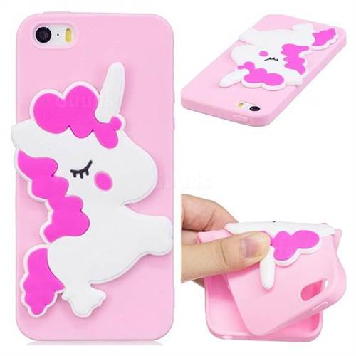 Pony Soft 3D Silicone Case for iPhone SE 5s 5