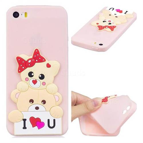 Love Bear Soft 3D Silicone Case for iPhone SE 5s 5