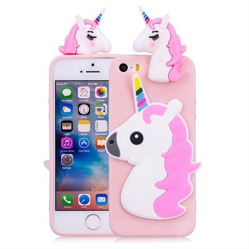 finest selection 364f0 c279d Unicorn Soft 3D Silicone Case for iPhone SE 5s 5 - Pink
