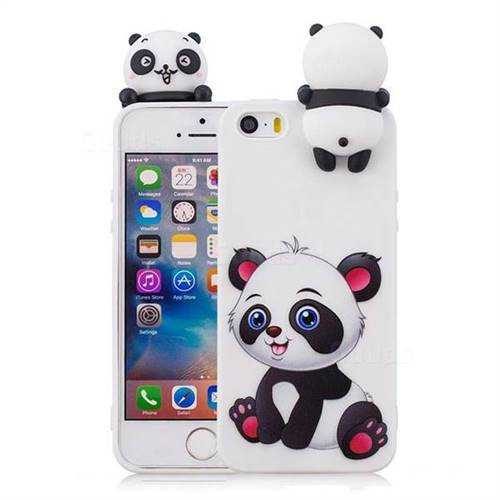 molto carino c4b1f 3d872 Panda Girl Soft 3D Climbing Doll Soft Case for iPhone SE 5s 5