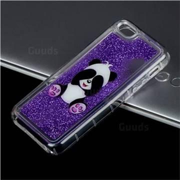 Naughty Panda Glassy Glitter Quicksand Dynamic Liquid Soft Phone Case for iPhone SE 5s 5
