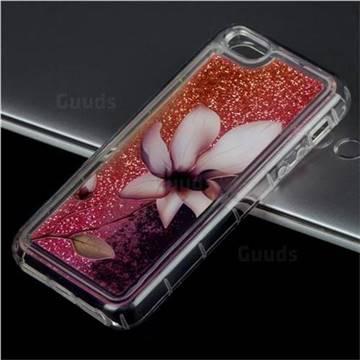 Lotus Glassy Glitter Quicksand Dynamic Liquid Soft Phone Case for iPhone SE 5s 5