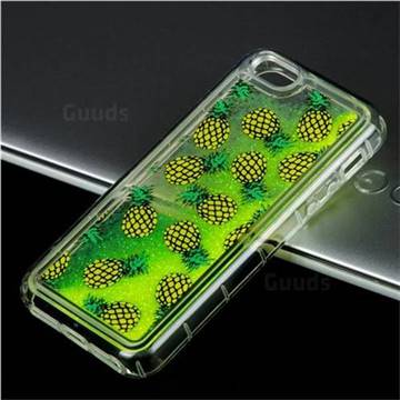 Pineapple Glassy Glitter Quicksand Dynamic Liquid Soft Phone Case for iPhone SE 5s 5