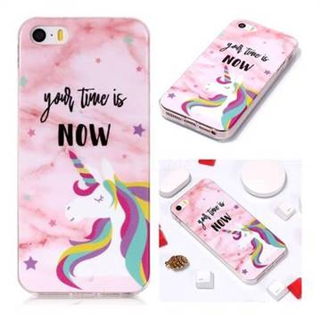 online store bdb51 bb915 Unicorn Soft TPU Marble Pattern Phone Case for iPhone SE 5s 5