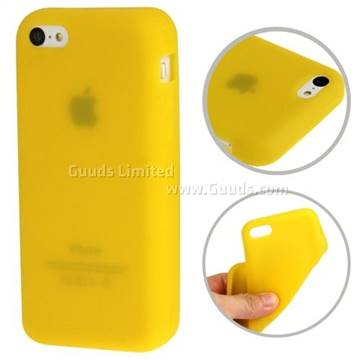 Soft Silicone Case for iPhone 5c - Yellow - Silicone Case ...