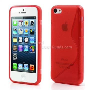 S-Curve TPU Gel Cover for iPhone 5C - Red