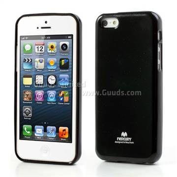 Mercury Goospery Jelly TPU Cover for iPhone 5c - Black