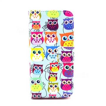Cute Owls Leather Flip Wallet Case Cover for iPhone 5c