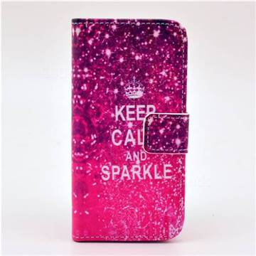 KEEP CALM AND SPARKLE Leather Flip Wallet Case Cover for iPhone 5c