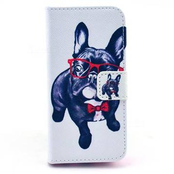 My Cute Dog Leather Flip Wallet Case Cover for iPhone 5c