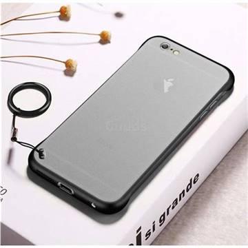 sports shoes b108e ce824 Transparent Matte Non-Slip Anti-Scratch no Fingerprint Bare Metal Sense  Case for iPhone 6s 6 6G(4.7 inch) - Black