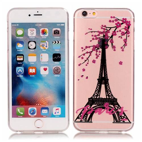 Plum Pairs Tower High Transparent Soft TPU Back Cover for iPhone 6s 6 (4.7 inch)