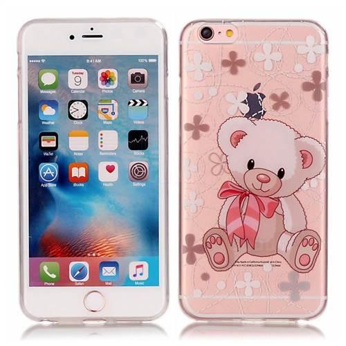 Cute Little Bear Super Clear Soft TPU Back Cover for iPhone 6s 6 (4.7 inch)