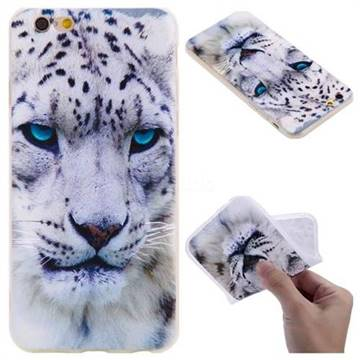 White Leopard 3D Relief Matte Soft TPU Back Cover for iPhone 6s 6 6G(4.7 inch)