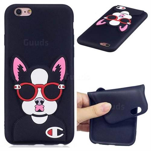 Glasses Gog Soft 3D Silicone Case for iPhone 6s 6 6G(4.7 inch)