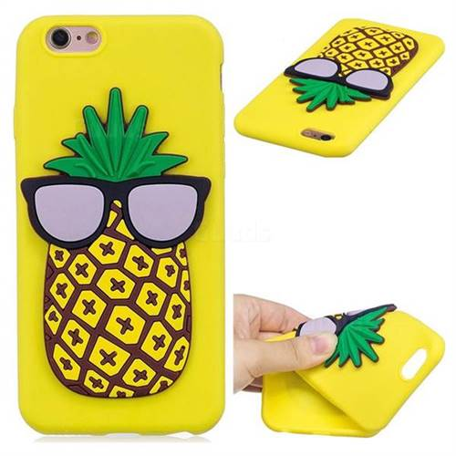 Pineapple Soft 3D Silicone Case for iPhone 6s 6 6G(4.7 inch)