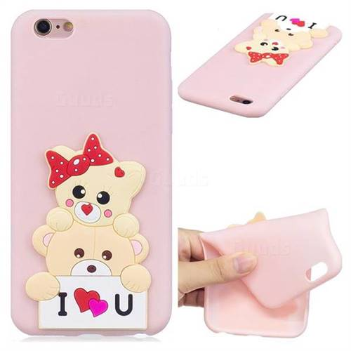 Love Bear Soft 3D Silicone Case for iPhone 6s 6 6G(4.7 inch)
