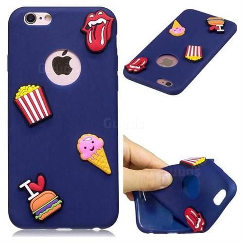 I Love Hamburger Soft 3D Silicone Case for iPhone 6s 6 6G(4.7 inch)