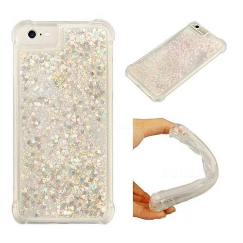 Dynamic Liquid Glitter Sand Quicksand Star TPU Case for iPhone 6s 6 6G(4.7 inch) - Pink