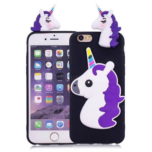 Unicorn Soft 3D Silicone Case for iPhone 6s 6 6G(4.7 inch) - Black