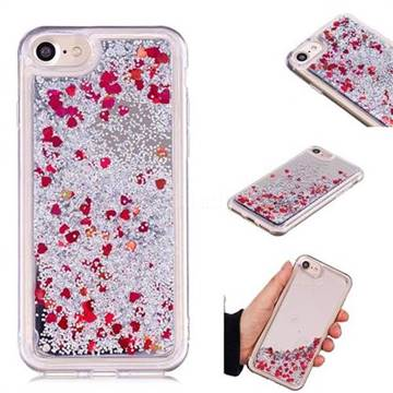 Glitter Sand Mirror Quicksand Dynamic Liquid Star TPU Case for iPhone 6s 6 6G(4.7 inch) - Red