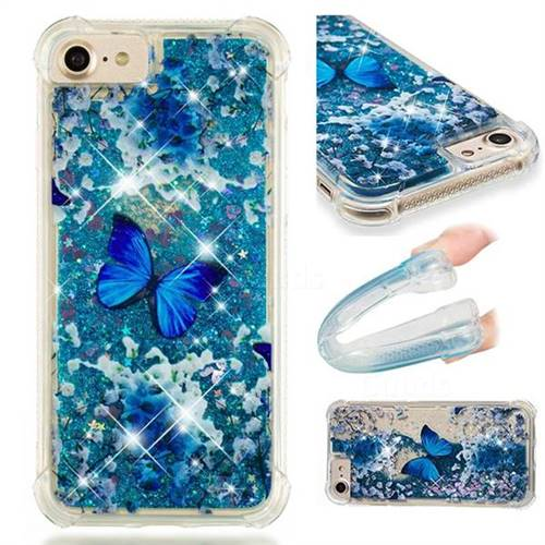 Flower Butterfly Dynamic Liquid Glitter Sand Quicksand Star TPU Case for iPhone 6s 6 6G(4.7 inch)