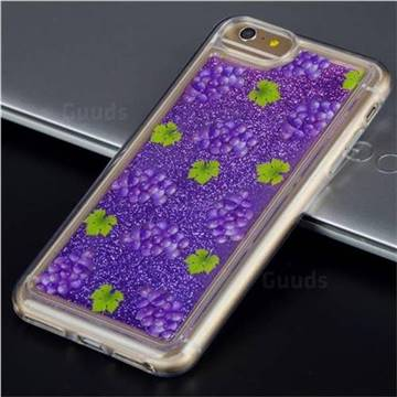 Purple Grape Glassy Glitter Quicksand Dynamic Liquid Soft Phone Case for iPhone 6s 6 6G(4.7 inch)