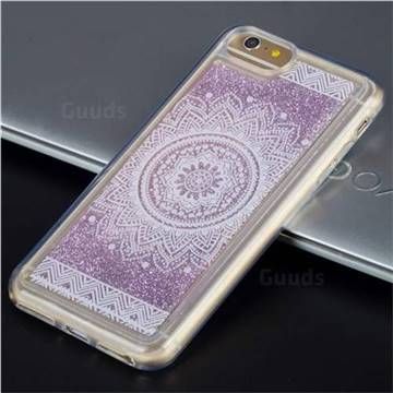 Mandala Glassy Glitter Quicksand Dynamic Liquid Soft Phone Case for iPhone 6s 6 6G(4.7 inch)
