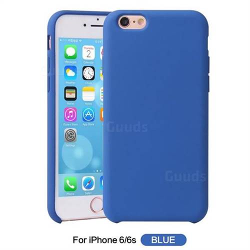 differently 7c47e 5c450 Howmak Slim Liquid Silicone Rubber Shockproof Phone Case Cover for iPhone  6s 6 6G(4.7 inch) - Sky Blue