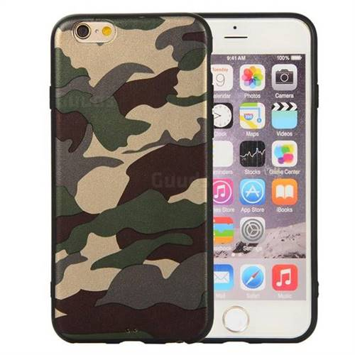size 40 e022d 83718 Camouflage Soft TPU Back Cover for iPhone 6s 6 6G(4.7 inch) - Gold Green
