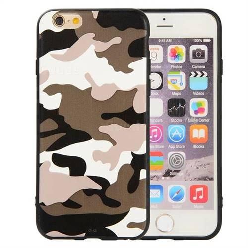 bf9bf435dc Camouflage Soft TPU Back Cover for iPhone 6s 6 6G(4.7 inch) - Black ...
