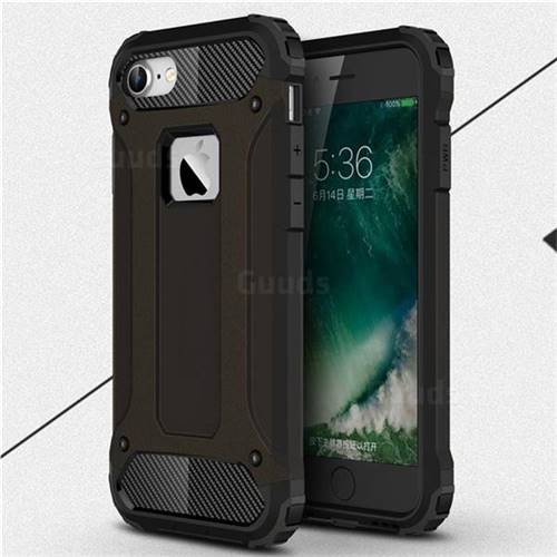 King Kong Armor Premium Shockproof Dual Layer Rugged Hard Cover for iPhone 6s 6 6G(4.7 inch) - Black Gold