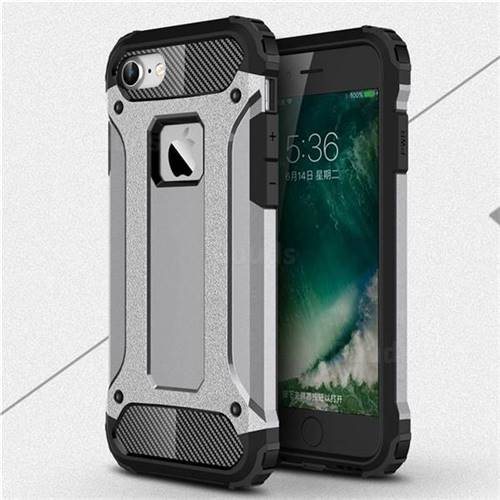 King Kong Armor Premium Shockproof Dual Layer Rugged Hard Cover for iPhone 6s 6 6G(4.7 inch) - Silver Grey