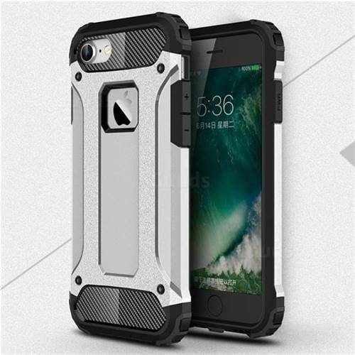 King Kong Armor Premium Shockproof Dual Layer Rugged Hard Cover for iPhone 6s 6 6G(4.7 inch) - Technology Silver